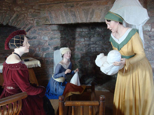 Birth of Henry vII from a tableau in Pembroke Castle