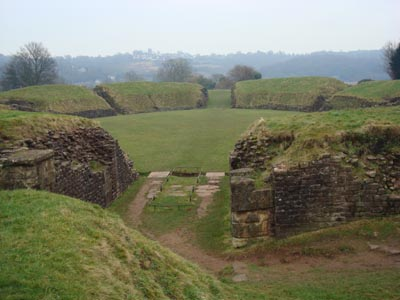 The Roman Amphitheatre at Caerleon, photo L Asman