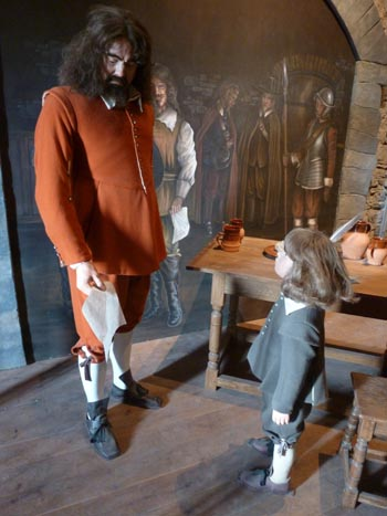 Poyers fate is drawn, Pembroke Castle tableau