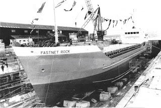 The Fastnet Rock, the last ship built in Hancock's Yard 1979