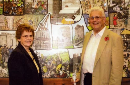 George and Jeanne Lewis creators of the Pembroke Murals