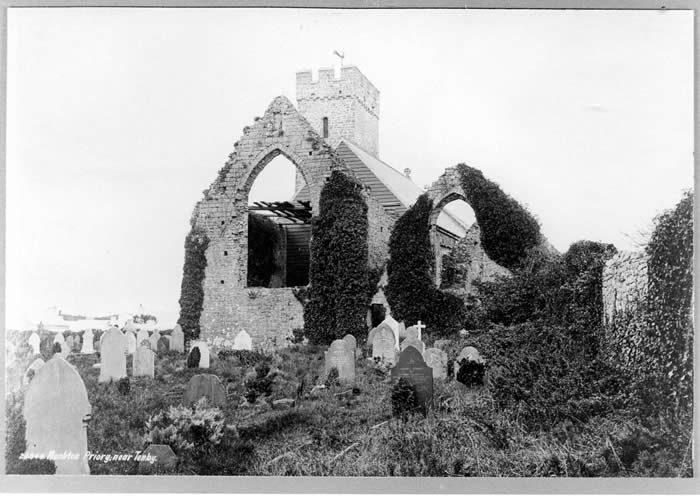Monkton Priory Church before restoration