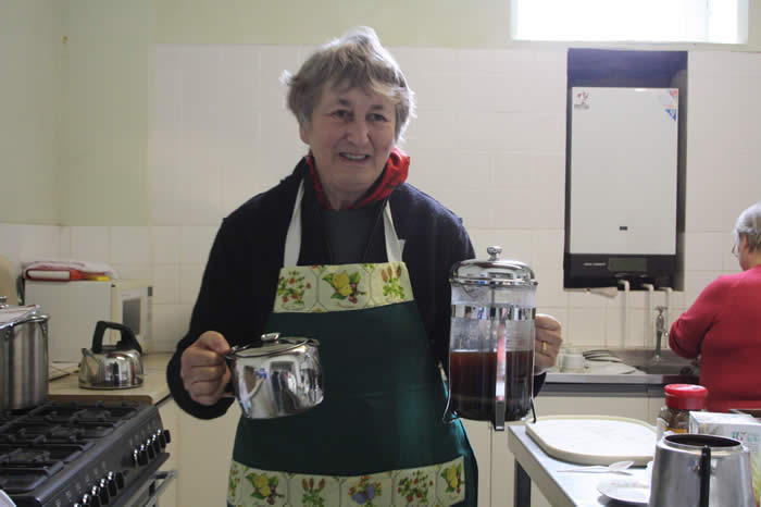 Jacky our coffee morning organiser