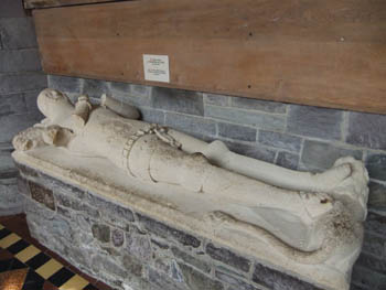 The Lord Rhys' tomb at St Davids Cathedral photo L Asman