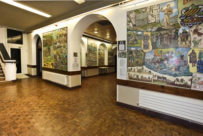 Pembroke Murals in Pembroke Town Hall painted by George and Jeanne Lewis