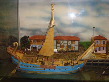 A Roman trading vessel as seen at Colchester Museum