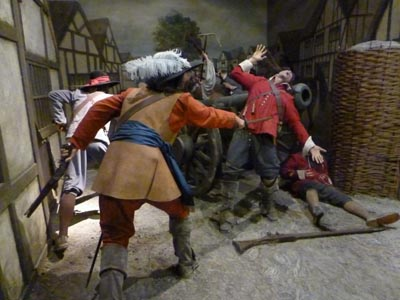 Battle in Main Street, Pembroke Castle tableau