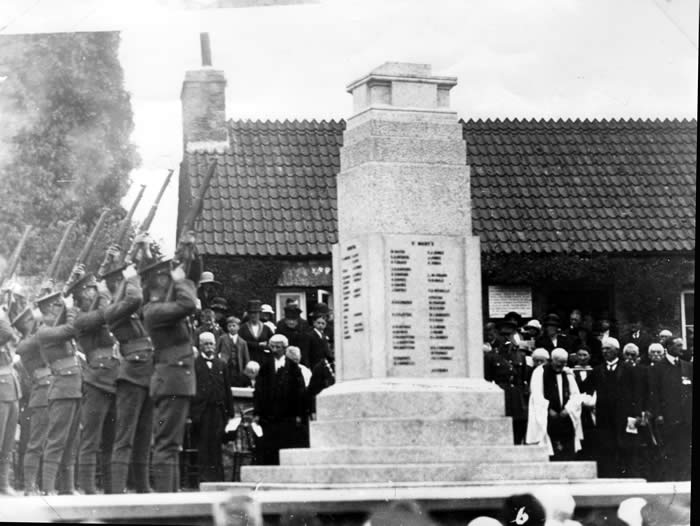 The unveiling of Pembroke's Cenotaph June 1924