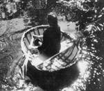Modern coracle, very similar to earliest Stone Age boats