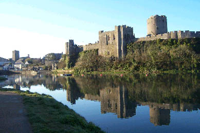 Pembroke Castle in the early morning by Linda Asman