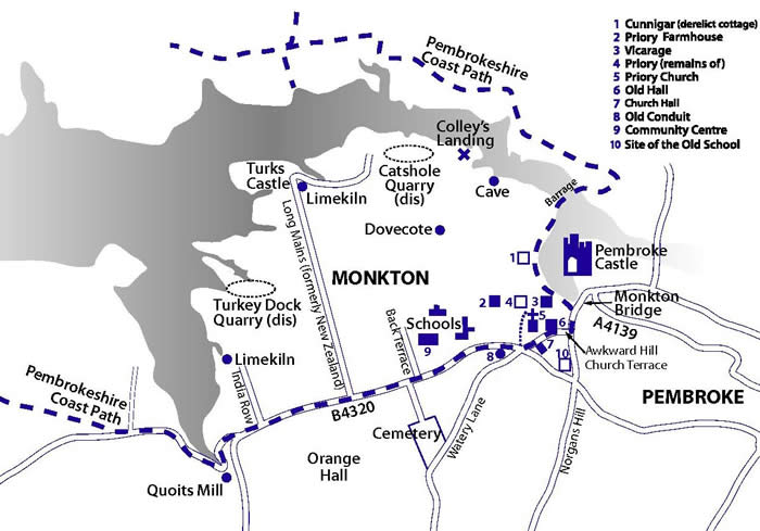 Map of Monkton drawn by Linda Asman